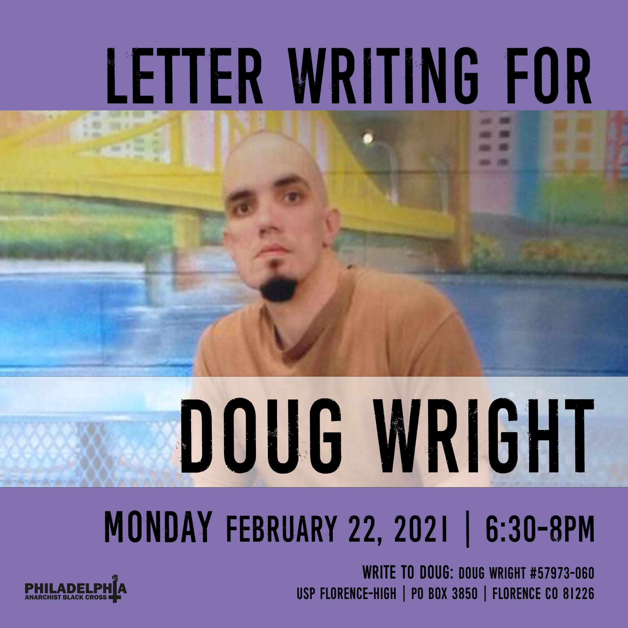 Monday February 22nd: Letter-writing for Doug Wright