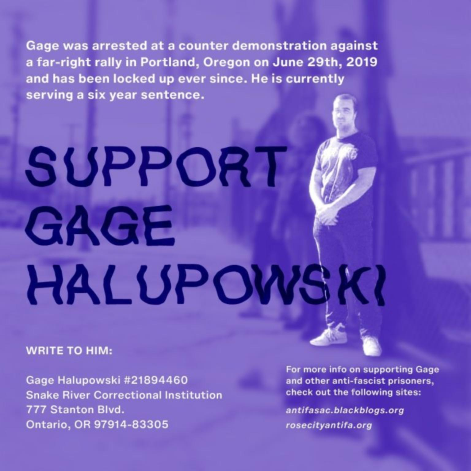 Monday, July 27th: Letter-writing for Gage Halupowski