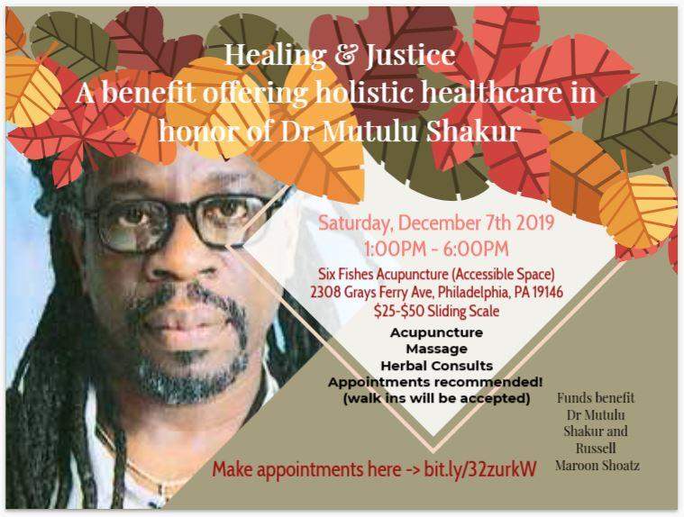 Healing & Justice: A Fundraiser Featuring Holistic Treatments
